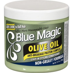Blue Magic Olive Oil Anti-Breakage Protein Complex Leave-In Styling Conditioner (13.75 Oz) - Beauty Empire