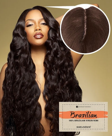 Sensationnel Brazilian Natural Body Lace Closure 12 inches - Beauty EmpireSensationnel - 1