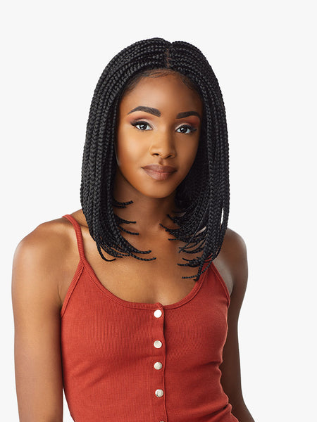Sensationnel Cloud 9 4x4 Swiss Braided Lace Front Wig - Box Braid Bob