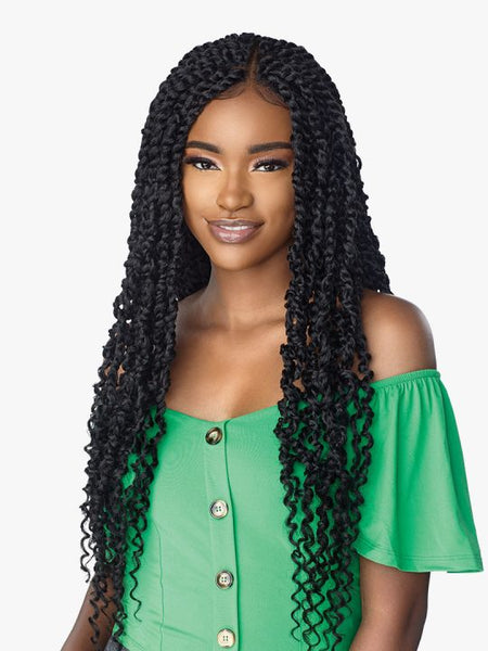 Sensationnel Cloud 9 4x4 Swiss Braided Lace Front Wig - Passion Twist 28 Inches