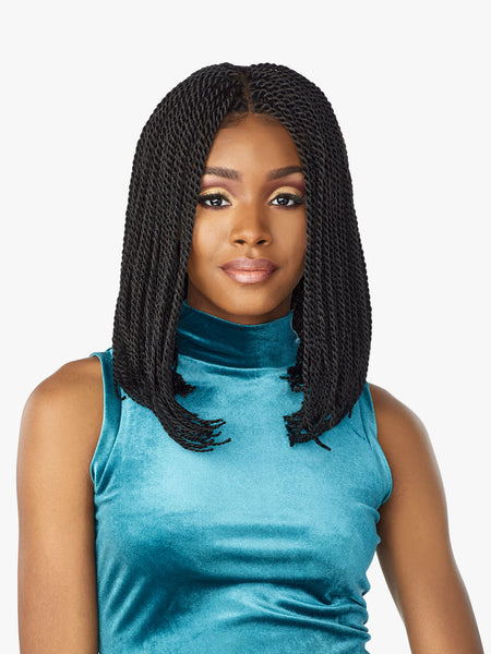 Sensationnel Cloud 9 4x4 Swiss Braided Lace Front Wig - Senegal Twist Bob
