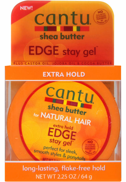 Cantu Shea Butter Edge Stay Gel Extra Hold (2.25 oz) - Beauty Empire