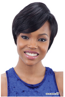 Mayde Beauty 100% Human Hair Invisible Part Side-Swept Wig - Pixie