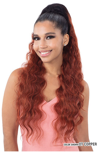 Mayde Beauty Drawstring Ponytail - Crimp Doll 30 Inches