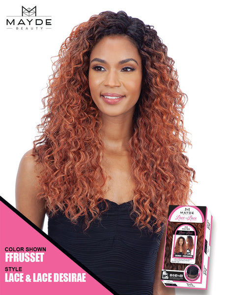 Mayde Beauty Lace & Lace Synthetic Lace Front Wig - Desirae - Beauty Empire