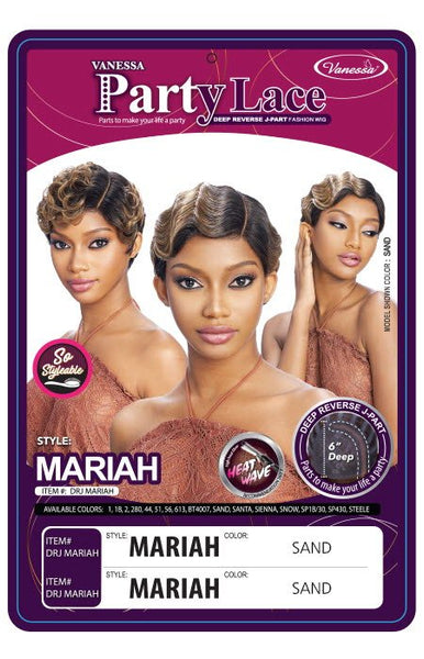 Vanessa Party Lace Deep Reverse J-Part Synthetic Wig - DRJ Mariah - Beauty Empire