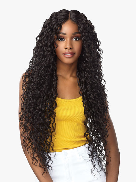 Sensationnel Empress Natural Center Part Lace Front Edge Wig - Nayana