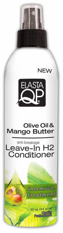 Elasta QP Olive Oil & Mango Butter Leave-In H2 Conditioner (8 Oz) - Beauty Empire