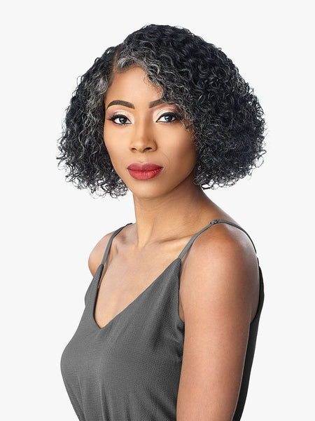 Sensationnel 100% Human Hair Salt & Pepper Empire Lace Front Wig - Joni - Beauty Empire