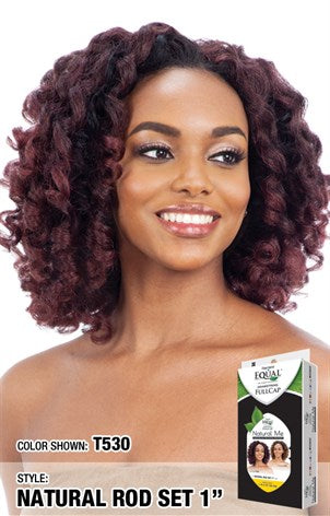 Freetress Equal Drawstring Full Cap Half Wig - Natural Rod Set 1 Inch