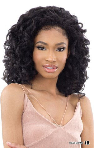 Freetress Equal Drawstring Full Cap Half Wig - Natural Rod Set 2 inch