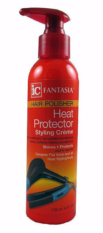Fantasia Hair Polisher Heat Protector Styling Creme (6 Oz) - Beauty Empire