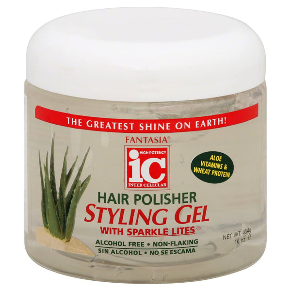 Fantasia IC Hair Polisher Styling Gel with Sparkle Lites (16 Oz) - Beauty Empire