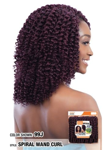 Model Model Glance Braid - Spiral Wand Curl
