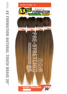 Model Model Pre-Stretched Glance Formation Braid - 4X Natural Touch Braid 20 Inches - Beauty Empire