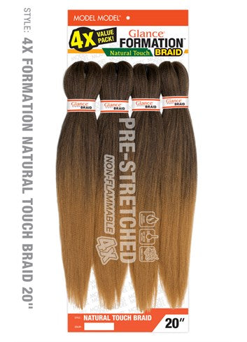 Model Model Pre-Stretched Glance Formation Braid - 4X Natural Touch Braid 20 Inches