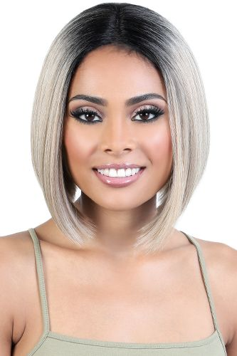 Motown Tress Human Hair Blend Lace Deep Part Wig - HBDLP.Jet - Beauty Empire