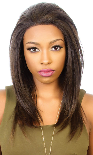 Diana Bohemian Pure Natural Human Blend Lace Wig - HBW Brazilian - Beauty Empire