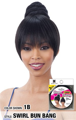 Freetress Equal Bun & China Bang - Swirl Bun Bang