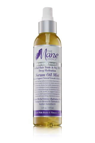 The Mane Choice Heavenly Halo Herbal Hair Tonic & Soy Milk Deep Hydration Serum Oil Mist - 6oz