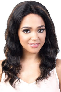 "Motown Tress 100% Persian Virgin Remy Human Hair 13""x3"" Swiss Lace Front Wig - HPL3.Star"