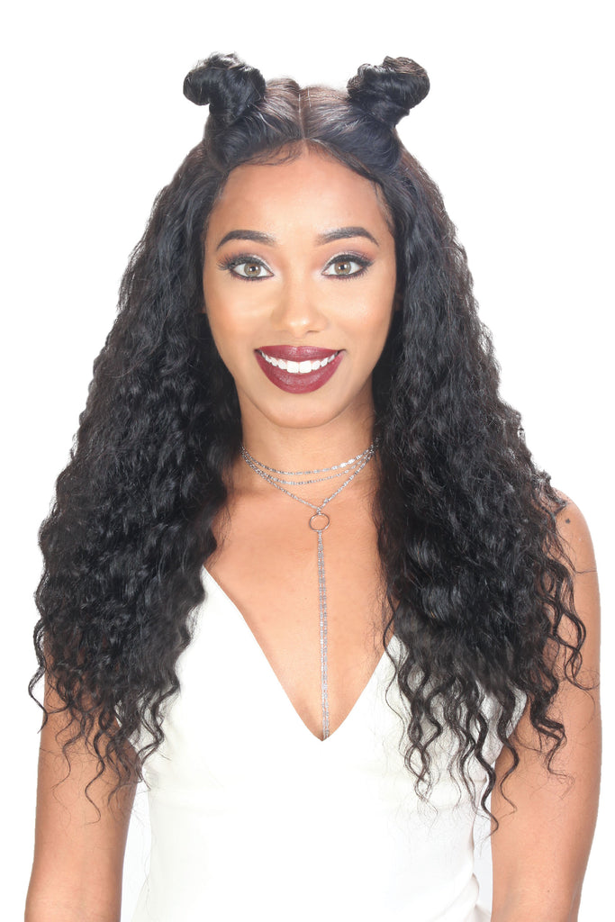 Zury Wet & Wavy Human Revive 100% Virgin Human Hair Whole 360 Lace Wig - Deep
