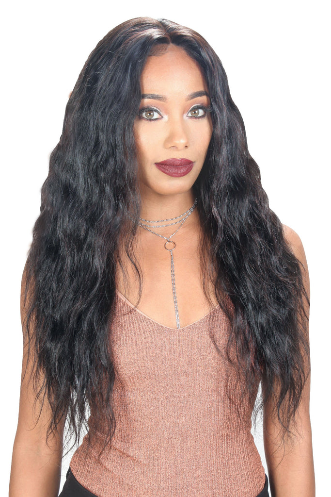Zury Wet & Wavy Human Revive 100% Virgin Human Hair Whole 360 Lace Wig - Loose