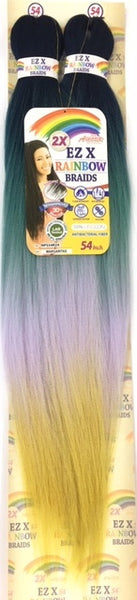 Amour Hair Collection 2X Ez X Rainbow Pre-Stretched Braids - 54 Inches - Beauty Empire