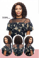 Vanessa 100% Unprocessed Brazilian Human Hair Hand-Tied Swissilk Top C-Side Lace Front Wig - TCH Diana - Beauty Empire