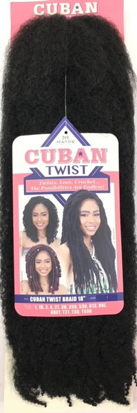 Mayde Beauty Cuban Twist Braid 18 Inches