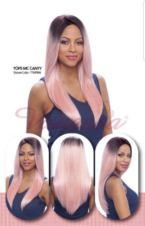 Vanessa Tops Middle C-Part Lace Front Wig - Tops MC Canty