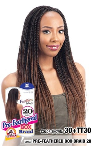 FreeTress Braid - Pre-Feathered Box Braid 20 Inches - Beauty Empire