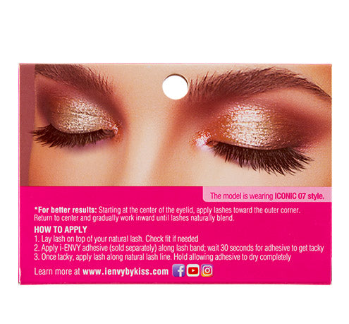 I-Envy Iconic Collection 3D Eyelash - Glam Icon KPEI07 - Beauty Empire