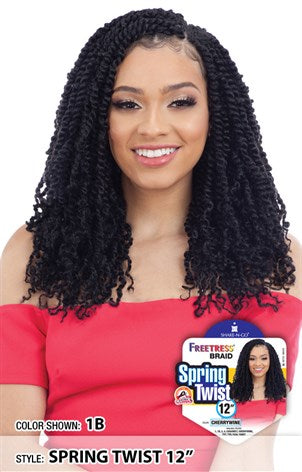 Freetress Braid Crochet - 2X Spring Twist 12 Inches - Beauty Empire