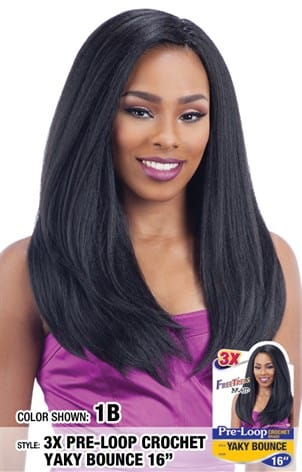 Freetress 3X Pre-Loop Crochet Braid - Yaky Bounce 16 Inches - Beauty Empire