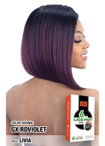Model Model 6 Inch Lace Part Wig - Livia