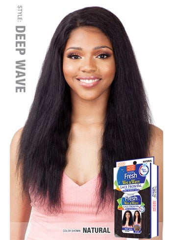 Model Model Nude Fresh Wet & Wavy 100% Human Hair Lace Front Wig - Deep Wave - Beauty Empire