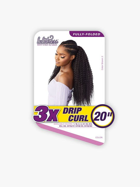 Sensationnel Lulutress Crochet Braid - 3X Drip Curl 20 Inches