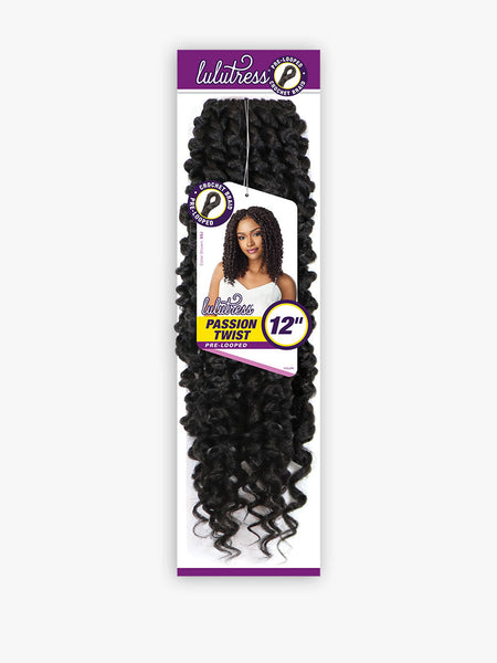 Sensationnel Lulutress Pre-Looped Crochet Braid - Passion Twist 12 Inches