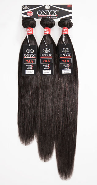 Onyx 100% Virgin Brazilian Remi 7A Bundles - 3 Bundle Straight - Beauty Empire