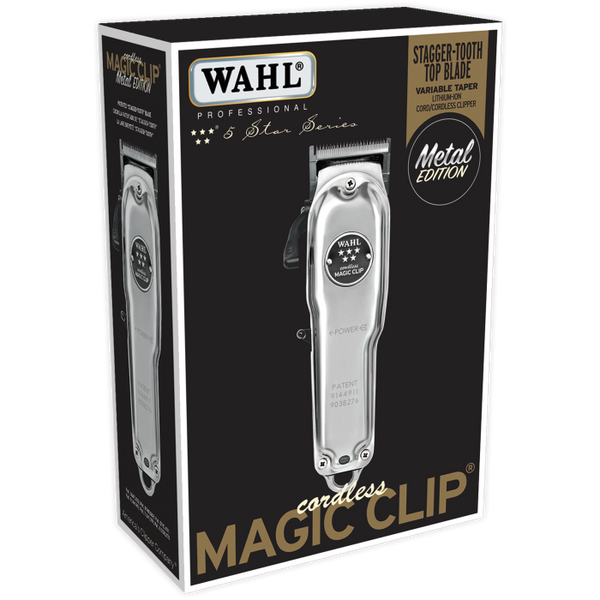 Wahl Professional 5 Star Cordless Magic Clip Metal Edition Hair Clipper - Beauty Empire