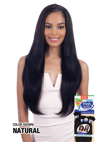 "Model Model Nude Fresh Wet & Wavy 7 Piece (10"" 12"" 14"") - Natural Wavy"