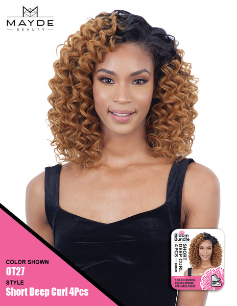 Mayde Beauty Bloom Bundle One Complete Pack - Short Deep Curl 4 Pieces