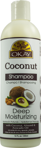 Okay Coconut Deep Moisturizing Shampoo (12 Oz) - Beauty Empire