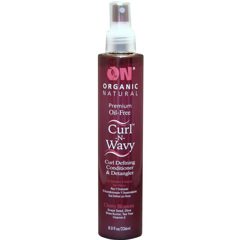 On Natural Premium Oil Free Remy Hair Curl-n-Wavy Curl Defining Conditioner & Detangler - Cherry Blossom (8 Oz) - Beauty Empire