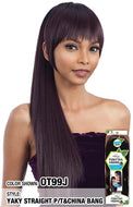 Freetress Equal Ponytail & Bang 2pcs - Yaky Straight Ponytail & China Bang - Beauty Empire
