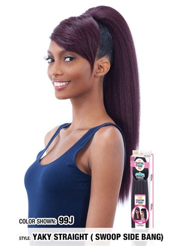Model Model Ponytail & Swoop Side Bang 2pcs - Yaky Straight