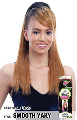 Freetress Equal Ponytail & Bang 2pcs - Smooth Yaky Ponytail & Swoop Side Bang - Beauty Empire