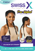 Outre Swiss X Pre-Styled Double French Vixen Synthetic Lace Front Wig - Lola Blow Out Straight