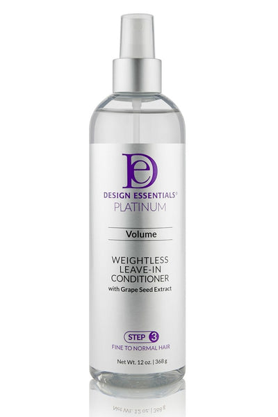 Design Essentials Platinum Weightless Leave-In Conditioner - Step 3 - 12oz